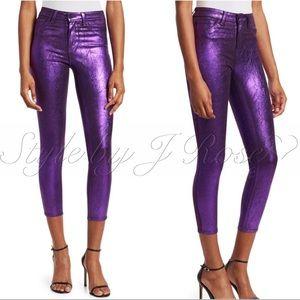 L'AGENCE Jeans - NWT's L'Agence Fashion Purple Metallic Foil Jeans